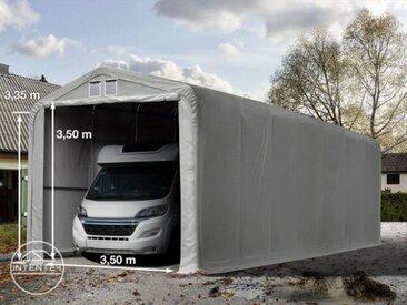 4x24m tente-garage de stockage, porte 3,5x3,5m, toile PVC de 550