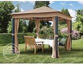 Tonnelle de jardin 3x3 m Sunset Premium, taupe