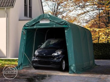 2,4x3,6m garage, abri, PVC 550 g/m², H. 2m, vert foncé