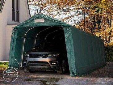 3,3x8,4m garage, abri, PVC 550 g/m², H. 2,1m, vert foncé