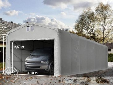 5x30m tente-garage de stockage, porte 4,1x2,5m, toile PVC de 550