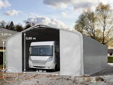 8x12m tente-garage de stockage, porte 4,0x3,6m, toile PVC de 550