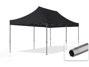 3x6 m Tente pliante - Acier, PVC 520g/m², anti-feu, noir