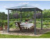Tonnelle de jardin 3x3 m Sunset Deluxe, toit rigide