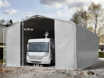 8x36m tente-garage de stockage, porte 4,0x4,7m, toile PVC de 550