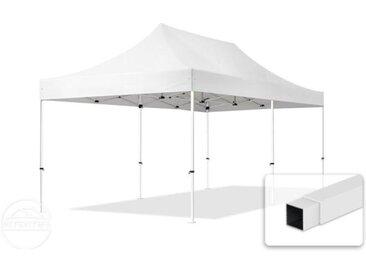 3x6 m Tente pliante - Acier, PES 300g/m², blanc