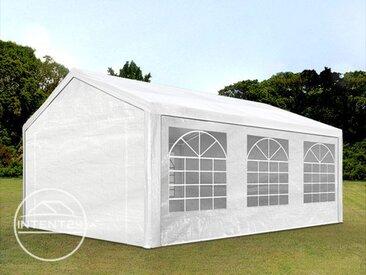 3x6 m tente de réception, PE 180 g/m², H. 2m, blanc