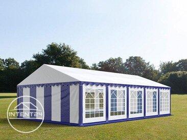 5x10m tente de réception, PVC, H. 2m, bleu-blanc