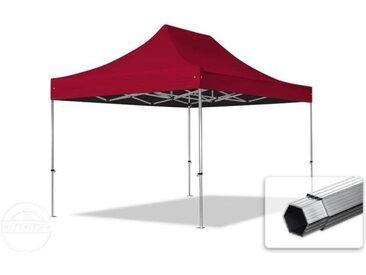 3x4,5 m Tente pliante - Alu, PES 400g/m², rouge