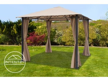 Tonnelle de jardin Paradise Premium taupe, 3x3m