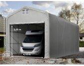 Tente-garage de stockage 5x10m, PVC 720, porte 4,1x3,5m, anti-feu