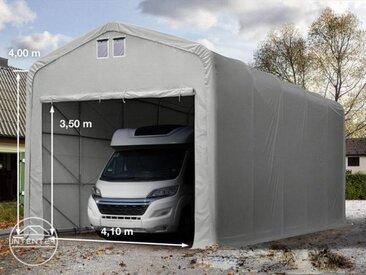 5x10m tente-garage de stockage, porte 4,1x3,5m, toile PVC de 720, anti-feu