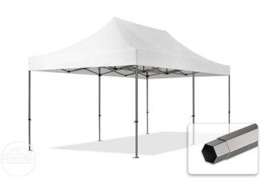 3x6 m Tente pliante - Acier, PVC 520g/m², anti-feu, blanc
