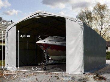 6x12m tente-garage de stockage, porte 4,1x4,0m, toile PVC de 720, anti-feu
