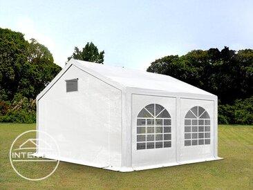 3x4 m tente de réception, PE 300 g/m², H. 2m, blanc