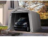 Abri garage 2,4x3,6 m, PVC 550, H. 2,0 m, gris