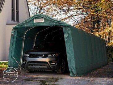 3,3x9,6m garage, abri, PVC 550 g/m², H. 2,1m, vert foncé