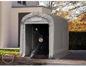 Abri garage 1,6x2,4 m, PVC 550, H. 1,7 m, gris