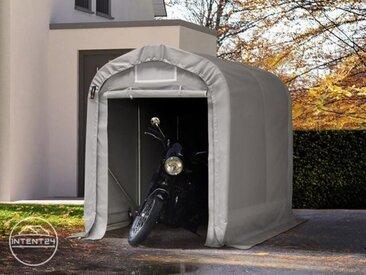 1,6x2,4m garage, abri, PVC 550 g/m², H. 1,7m, gris