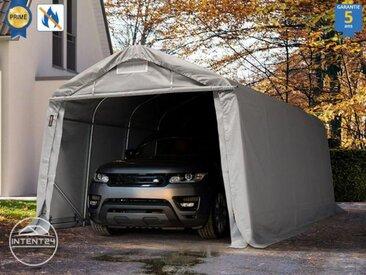 3,3x6,0m carport, garage - hauteur d'entrée 2,1m, PVC haute densité 720 g/m², gris