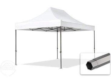 3x4,5 m Tente pliante - Acier, PVC 520g/m², anti-feu, blanc