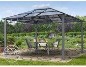 Tonnelle de jardin 4x4 m Sunset Deluxe, toit rigide