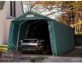 Abri garage 3,3x6,0 m, PVC 550, H. 2,1 m, vert foncé