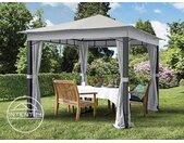 Tonnelle de jardin 3x3 m Sunset Premium, gris perle