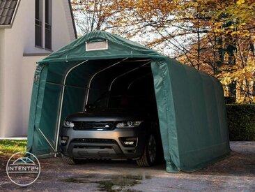 3,3x4,8m garage, abri, PVC 550 g/m², H. 2,1m, vert foncé