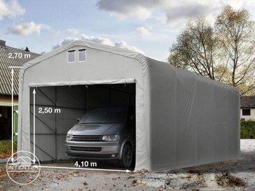 5x10m tente-garage de stockage, porte 4,1x2,5m, toile PVC de 550
