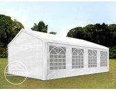 4x8 m tente de réception, PE 180 g/m², H. 2m, blanc