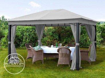 Tonnelle de jardin Sunset Premium gris perle, 3x4m