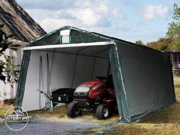 3,3x6,2m garage, abri, PE 260 g/m², H. 2m, vert foncé