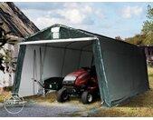 Abri garage 3,3x6,2 m, PE 260 g/m², H. 2 m, vert foncé