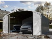 Tente-garage de stockage 7x7m, PVC 550, porte 5,0x2,9m