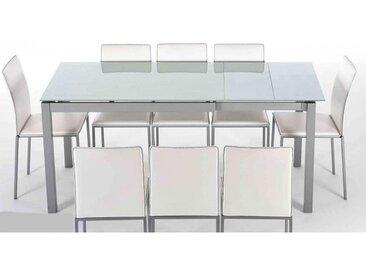 TABLE EN VERRE OU CERAMIQUE AVEC ALLONGES DUO
