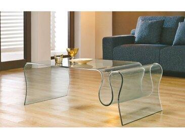 TABLE BASSE EN VERRE PORTE-REVUES 1506