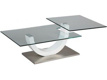TABLE BASSE EN VERRE PLATEAU PIVOTANT 1263