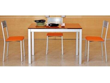 TABLE EN VERRE AVEC ALLONGES APOLO