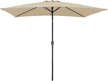 Parasol droit rectangulaire Hapuna 2 × 3m