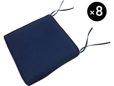 Lot de 8 coussins pour chaise de jardin - 40 × 40cm