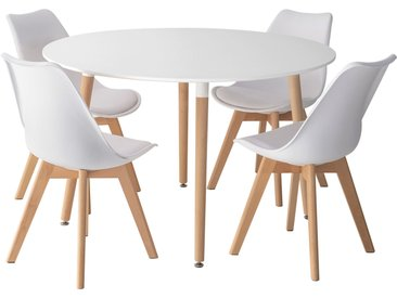 Ensemble table Martha et 4 chaises Nora