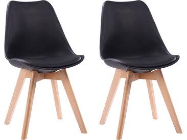 Lot de 2 chaises scandinaves Nora