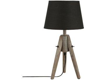 """Lampe """"Miry"""" Noire à trépied en bois H46"""