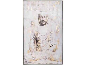 Toile imprimée Bouddha cadre en pin 75x115