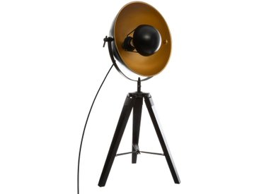 "Lampe trépied Noir & Or ""Rho"""