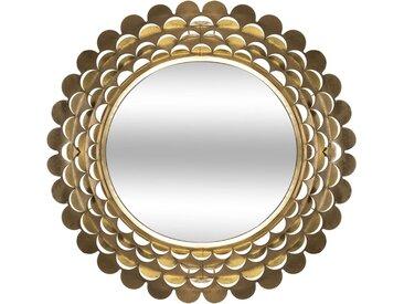 Miroir Fleur Or en métal D91