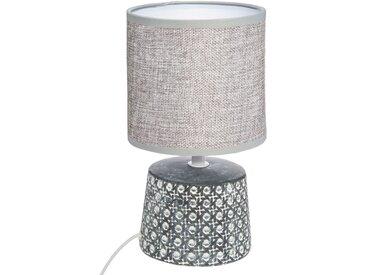 Lampe à poser cannage en céramique H23