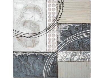 Toile peinte Abstrait en métal 48x48