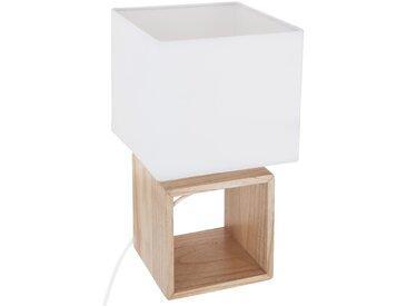 "Lampe ""Pojo"" carrée en bois H32"